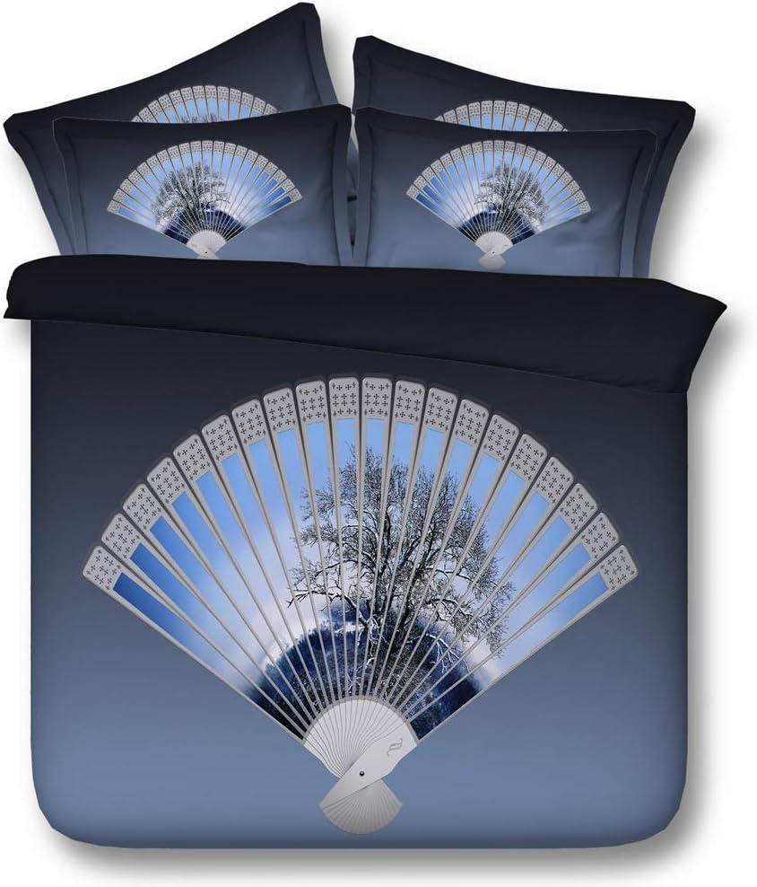 /Él/égant Fleur Galaxie V/élo Romantique Parures de Literie avec Taie doreiller Cheval, 140x200cm Sticker superb 3D Blanc Cheval Bleu Ciel Coton Ventilateur Housse de Couette