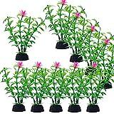 10 Pcs Plantas Acuáticas Artificiales, Decoraciones Plásticas del Tanque de Peces, Plantas de plástico Decoración de Acuarios para Acuarios para Decoración de Acuarios y Peceras