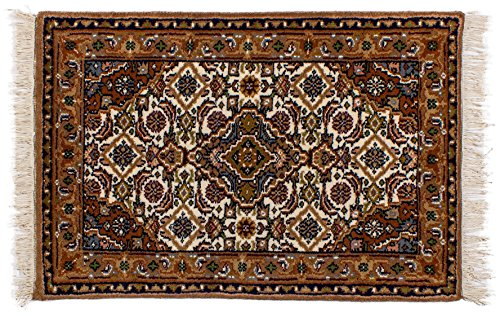 Lifetex.eu Teppich Bidjar ca. 60 x 90 cm Braun handgeknüpft Schurwolle Klassisch hochwertiger Teppich