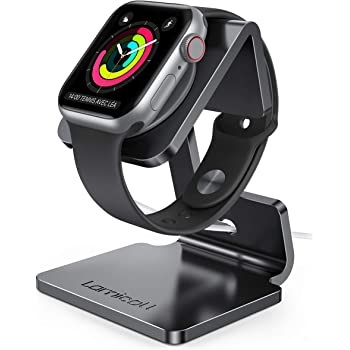 Stand for Apple Watch, Lamicall Charging Stand : Desk Watch Stand Holder Charging Dock Station Designed for Apple Watch Series SE/Series 6/5 / 4/3 / 2/1 / 44mm / 42mm / 40mm / 38mm - Black