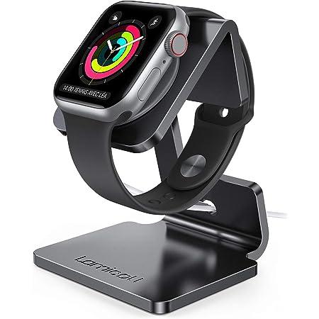 Apple Watch 充電スタンド Series 6 SE 5 4 3 2 38mm 40mm 42mm 44mm 全機種対応 置くだけで充電 Lomicall アップル ウォッチ 卓上スタンド : applewatch アルミ 充電 ドック 充電機 ライトニング スタンド ナイキ デスク ドック すたんど ホルダー 卓上 充電ケーブル 収納 ナイトスタンド クレードル アップルウォッチ シリーズ Series 1 2 3 4 5 6 SE charge night stand アクセサリー 周辺機器-ブラック