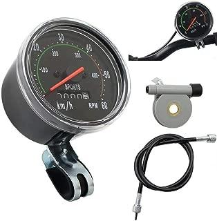 "Paddsun Retro General Waterproof Bicycle Mechanical Speedometer Odometer Classic Style for Exercycle & Bike Handle 26"" 28"" 29"" 27.5"""