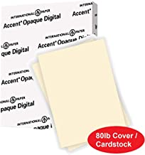 Accent Opaque Thick Cardstock Paper, Warm White Paper, 80lb Cover, 216 gsm, Letter Size, 8.5 x 11 Paper, 97 Bright, 1 Ream / 250 Sheets, Super Smooth, Heavy Card Stock (121978R)