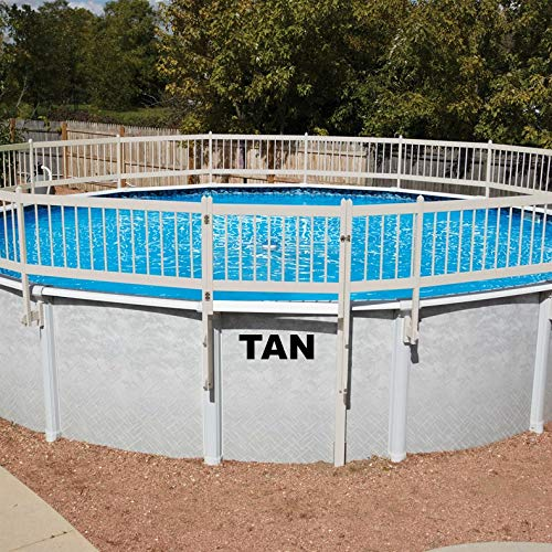 Doheny's Protect-A-Pool Fence for Above Ground Pools   Provides A New Level of Security to Above Ground Pool Safety!   Fits Most Pools - Regardless of Shape (Base Kit A - 8 Sections, Tan)
