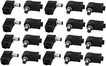 X-Dr 20pcs Plastic Coated 5.5mmx2.1mm DC Male Jack Connector Right Angled Coupler (6b654d91-a222-11e9-8d7c-4cedfbbbda4e)