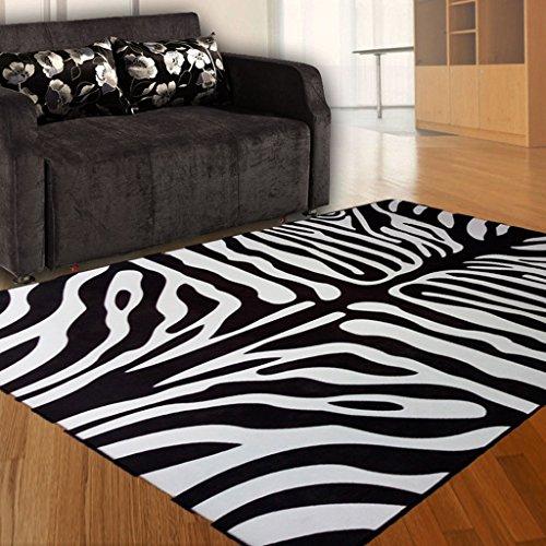 Gbf Tappeti Moda tappeti alla Moda zebrati tappeti Personalizzati in Bianco e Nero tappeti per tappeti da Salotto Coperte per Bambini Morbidi e Confortevoli Facili da Pulire