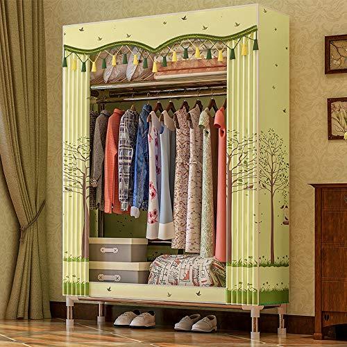 Olydmsky Armoire Tissus,Tissu Garde-Robe 25MM Tuyau en Acier Bold Renforcé Haute Qualité Simple Garde-Robe Assemblé Simple Petit Garde-Robe