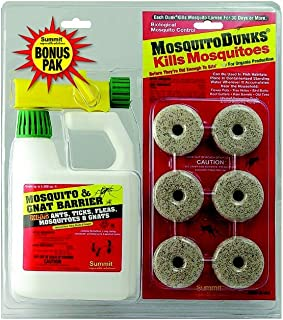 Summit Mosquito Dunks and Mosquito and Gnat Barrier Combo Pack