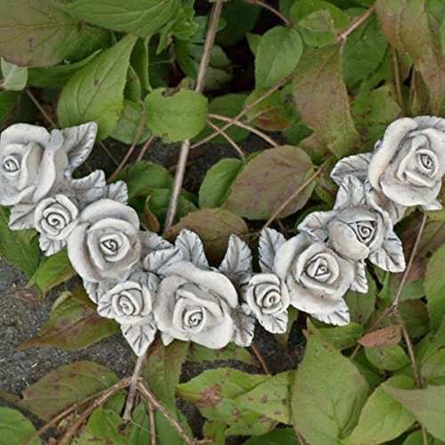 Trauer-Shop Rosenblüten Ranke wetterfest für die Grabdekoration. Länge 16cm