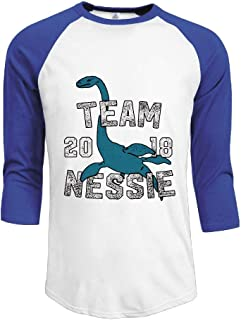 Team Nessie Loch Ness Monster Adult Mens Long-Sleeved Tshirts