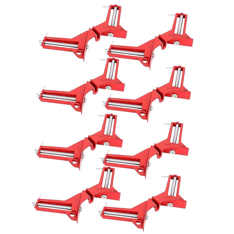 料理用心肌joyMerit 8個のアルミ合金3in直角マイターコーナー額縁クランプホルダー木工ファスナーのセット