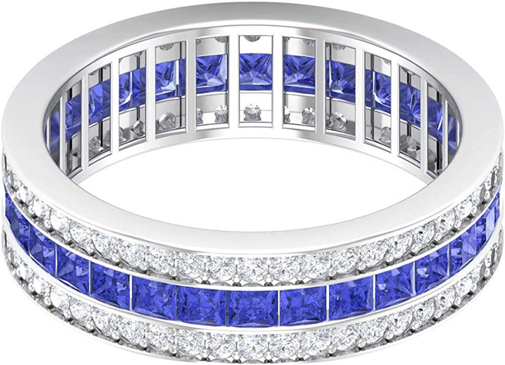 2 MM Princess 67% OFF of fixed price Cut Lab Created Wedd Tanzanite Diamond HI-SI Ring New Shipping Free