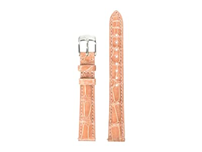 Michele 14 mm Alligator Strap (Pink) Watches
