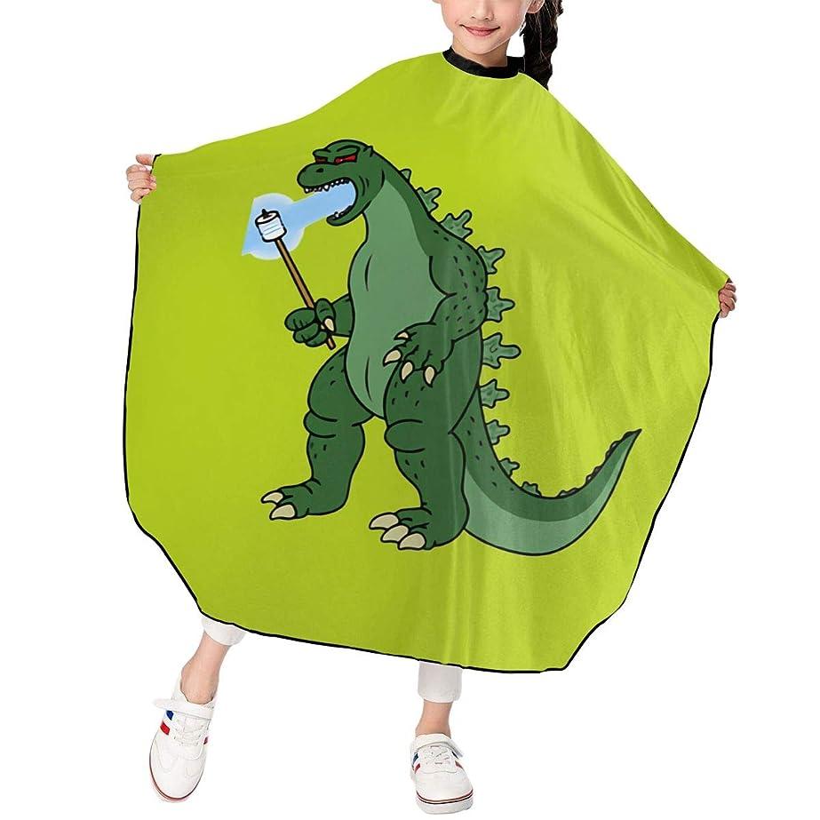 PST-LF Godzilla ゴジラ 恐竜 散髪ケープ 散髪マント ファミリー理髪 折りたたみ式 ヘアカットケープ ヘアダイケープ 自宅 サロン 防水 散髪マント 幼児用 ヘアカット 子供用ヘアカットケープ 散髪ケープ