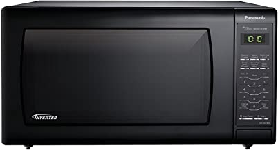 Microwave Oven Compact Countertop Panasonic Electric Black 1250 Watt 1.6 cu. ft. Inverter Cookware With Free Pot Holders
