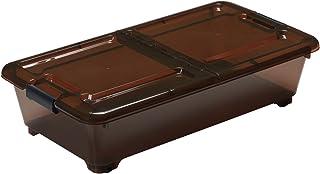 サンカ ベッド下収納 ベット下収納BOX スモークブラウン (400×750×180) squ+ BSB-75SB 日本製