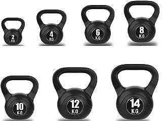 AWAHM Set di Pesi Kettlebell per Donne: 2kg, 4kg, 6kg, 8kg, 10kg, 12kg, 14kg