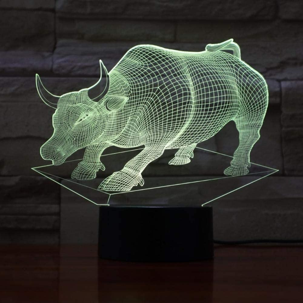 Highland Cattle Max 68% OFF Night Light 3D Flash Sleep Remote Max 58% OFF Cont Led