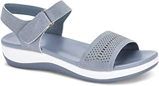 Ceriz Women's Light Blue Casual Fashion Sandals