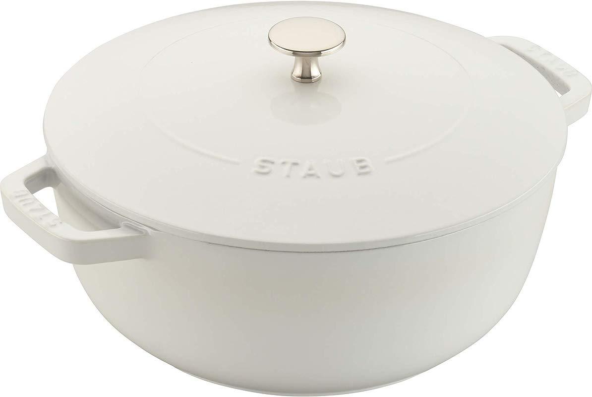Staub 11732402 Cast Iron Essential French Oven 3 75 Quart White