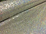 LushFabric Mini-Pailletten-Stoff, 3 mm, schillernd,