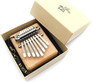 YXDS Piano à Pouce 8 Tons Mini Kalimba Doigt Piano Instrument de Musique Portable Pouce Africain Planche entière Bois Kali...