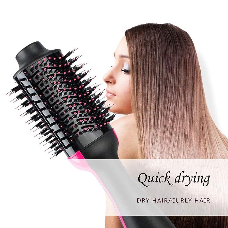 モノグラフ戦う降臨OULYO- ヘアドライヤーのブラシ、1つのステップ熱気のブラシ - 1に付き3ドライヤーのスタイリングおよびVolumizerの櫛の否定的なイオンの大広間のストレートヘアアイロンおよびカーラーの熱い髪の櫛の反焦げ付き防止