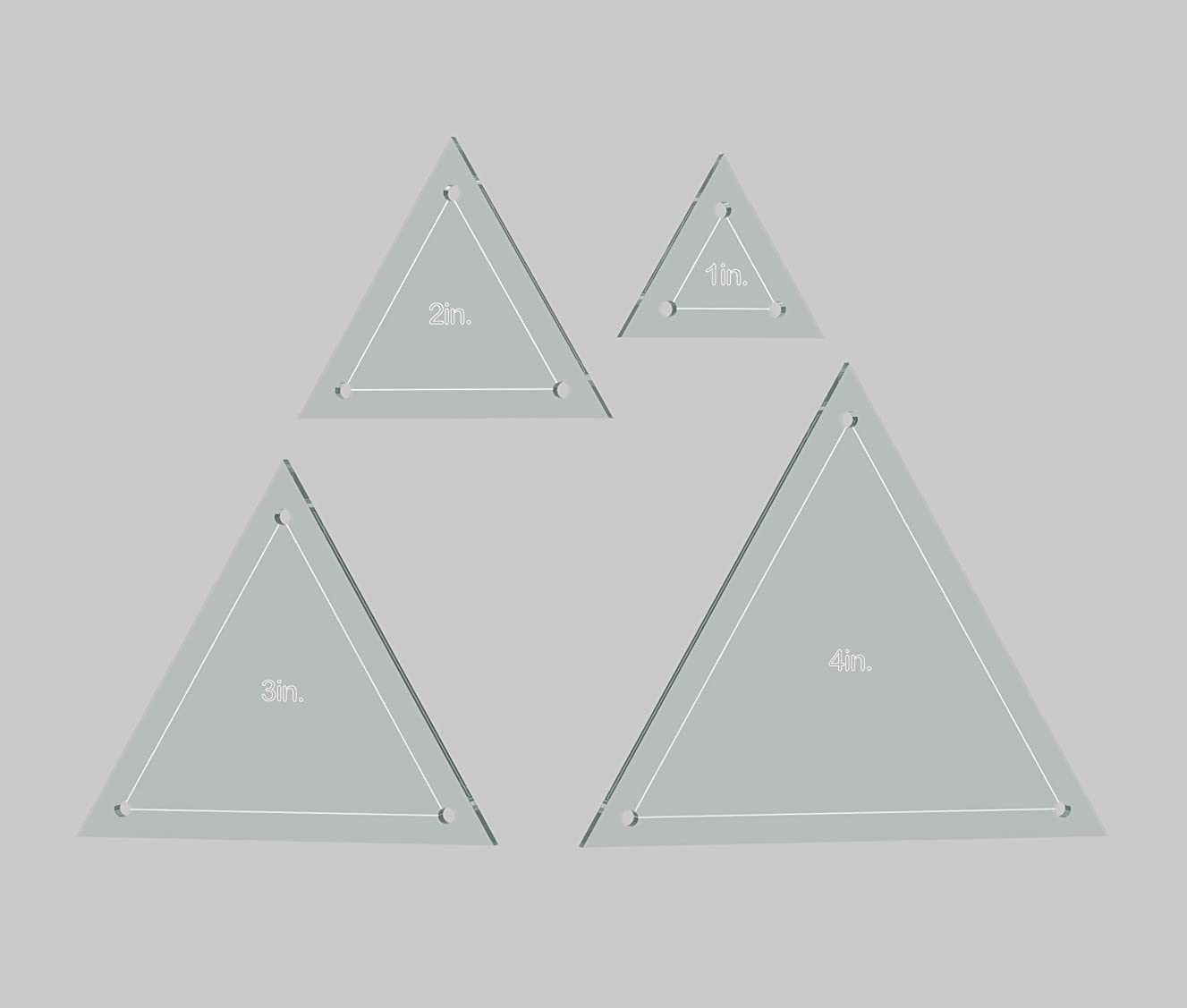 Triangle Quilting Template Set, 4