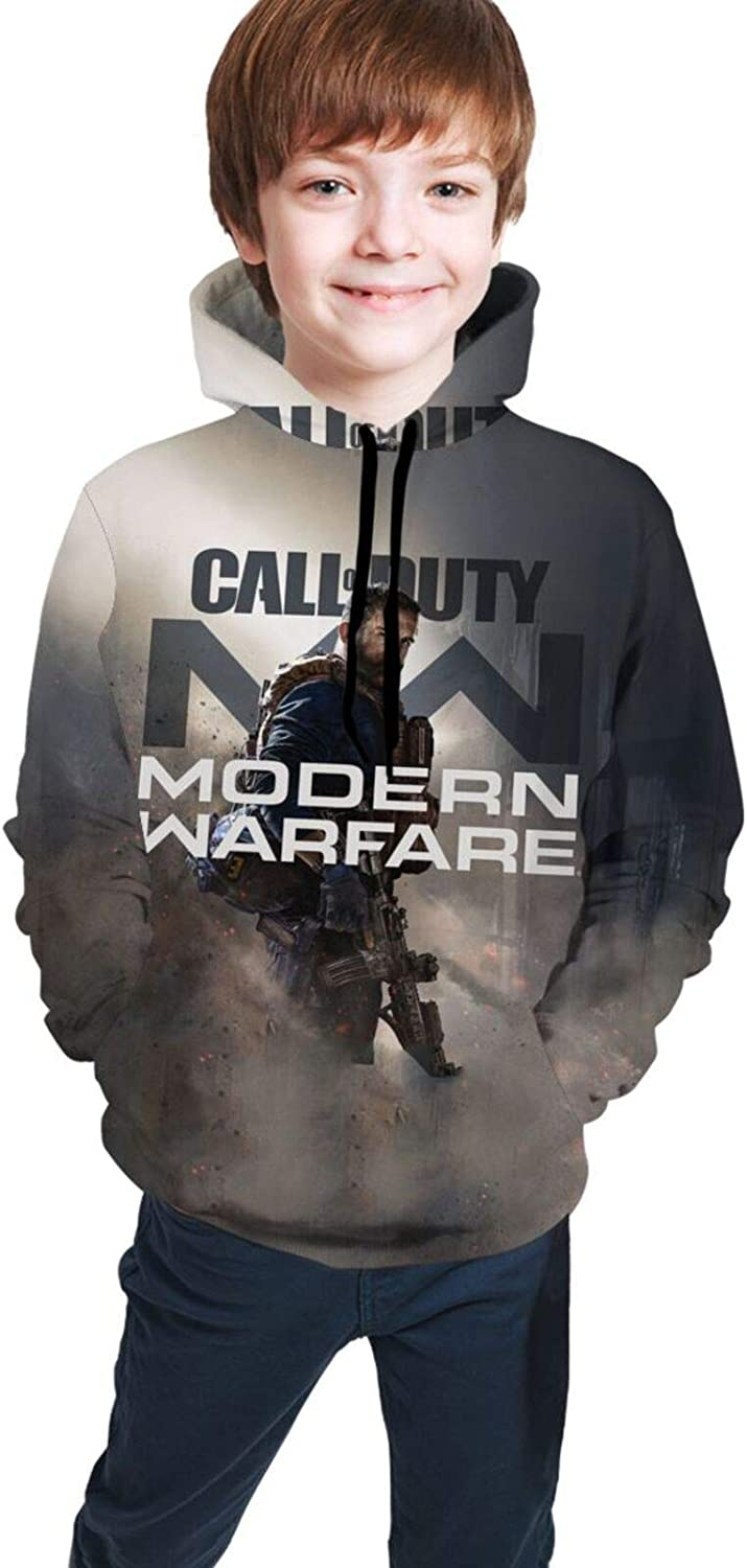 IEUCHEIC Youth Hoodie Pocket Ranking TOP7 Large discharge sale Modern-Warfare Call-of-Duty 3D 2019