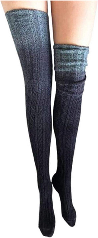 Women Knit Leg Warmers Winter Solid Color Thick Fashion Elasticity Leg Warmer Socks (Style A-gray)
