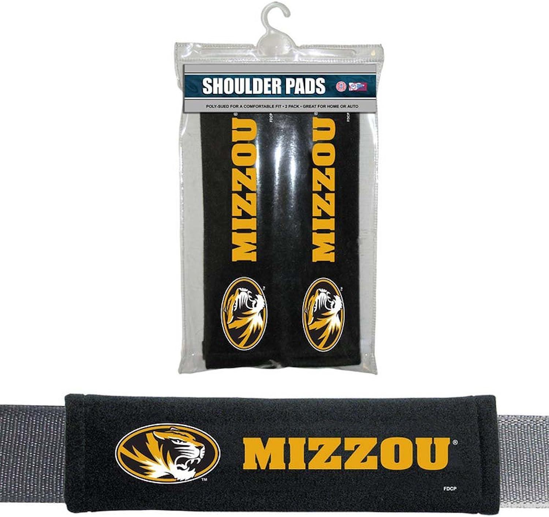 Fremont Die NCAA Missouri Tigers Velour Seat Belt Pads, One Size, Multi