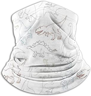 NIUCNNOJNV Neck Warmer - Windproof Winter Neck Gaiter Cold Weather Face Mask for Seamless Pattern with Dinosaur Outline Men Women