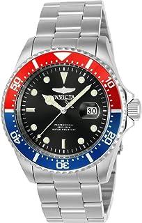 Invicta Pro Diver 23384 Reloj de buceo de cuarzo para hombre con correa de acero inoxidable, color plateado, modelo 14