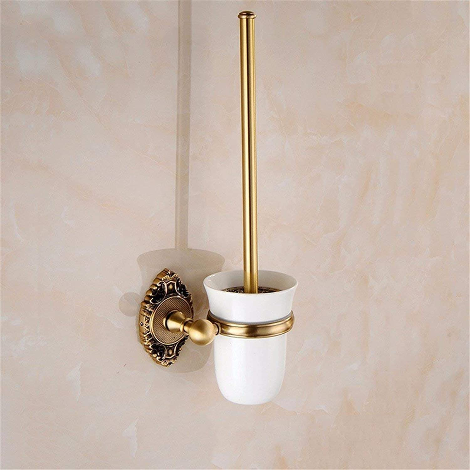 European Style of The Ancient Copper Carved Accessories of Room of a Large Holding in Pure Copper Hook,Toilet Brush