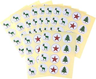 OBANGONG Christmas Sticker Xmas Elements Self-Adhesive DIY Cartoon Sticker Gift Sealing Decoration Paster Baking Packing L...