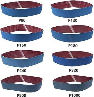 """4/""""x36/""""Sanding Belts 60-180 Grit Aluminium Oxide For Sander Replacement 6pcs"""