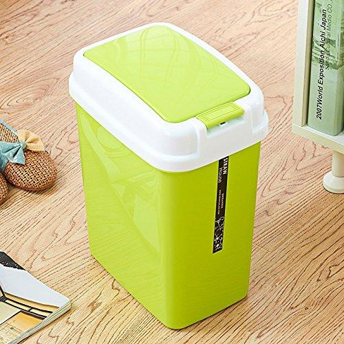 Home Plastic Trash Color Mode Creative Bathroom Rectangle de cuisine ( Couleur : Vert )