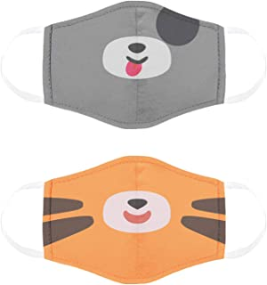 Cubcoats Kids Face Masks, Pimm The Puppy & Tomo The Tiger, Comfortable Protective Masks, Reusable & Washable, 2 Pack