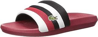 Men's Croco Slide Sandal, Green/White, 11 Medium US