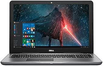 Dell Inspiron 15.6in LED-Backlit Display Laptop PC Intel i7-7500U 8GB DDR4 RAM 256GB SSD DVD-RW Backlit-keyboard 802.11ac Webcam Windows 10-Gray (Renewed)