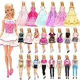 Miunana 18 Accesorios Seleccionados Al Azar para 11.5 Pulgada 30CM Muñeca: 2 Vestidos de Moda + 2 Blusas + 2 Pantalones + 2 Vestidos De Novia + 2 Trajes De Baño + 10 PCS Zapatos