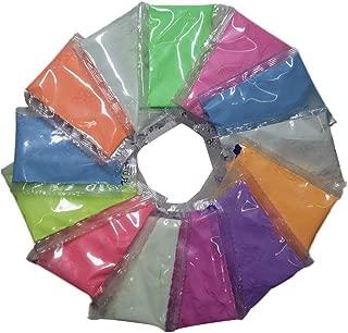 TINKSKY 蓄光パウダー 発光粉末 夜光 顔料 蓄光塗料 防水 高輝度 12個セット 12色