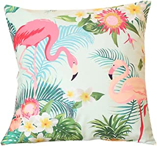 Cute Flamingos Decorative Cushion Covers Throw Pillow Cases 18 in,A7