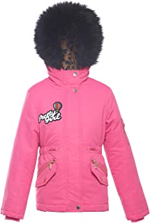 Rokka&Rolla Girls' Water-Resistant Hooded Heavy Padded Winter Coat Lined Thickened Insulated Parka Anorak Puffer Jacket