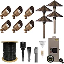 VOLT 6 Spotlight 4 Path Light Complete Kit, Brass