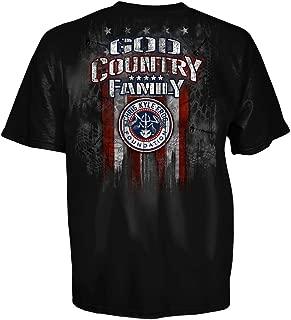 Chris Kyle American Sniper Frog Foundation Black Men Shirt God Country Family 2077