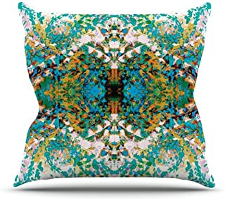 "KESS InHouse MS4007AOP03 18 x 18-Inch ""Nikposium Summer Breeze Blue Teal"" Outdoor Throw Cushion - Multi-Colour"