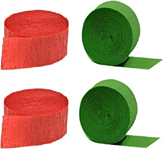 Christmas Crepe Paper Streamers (Red + Special Edition Lime Green)