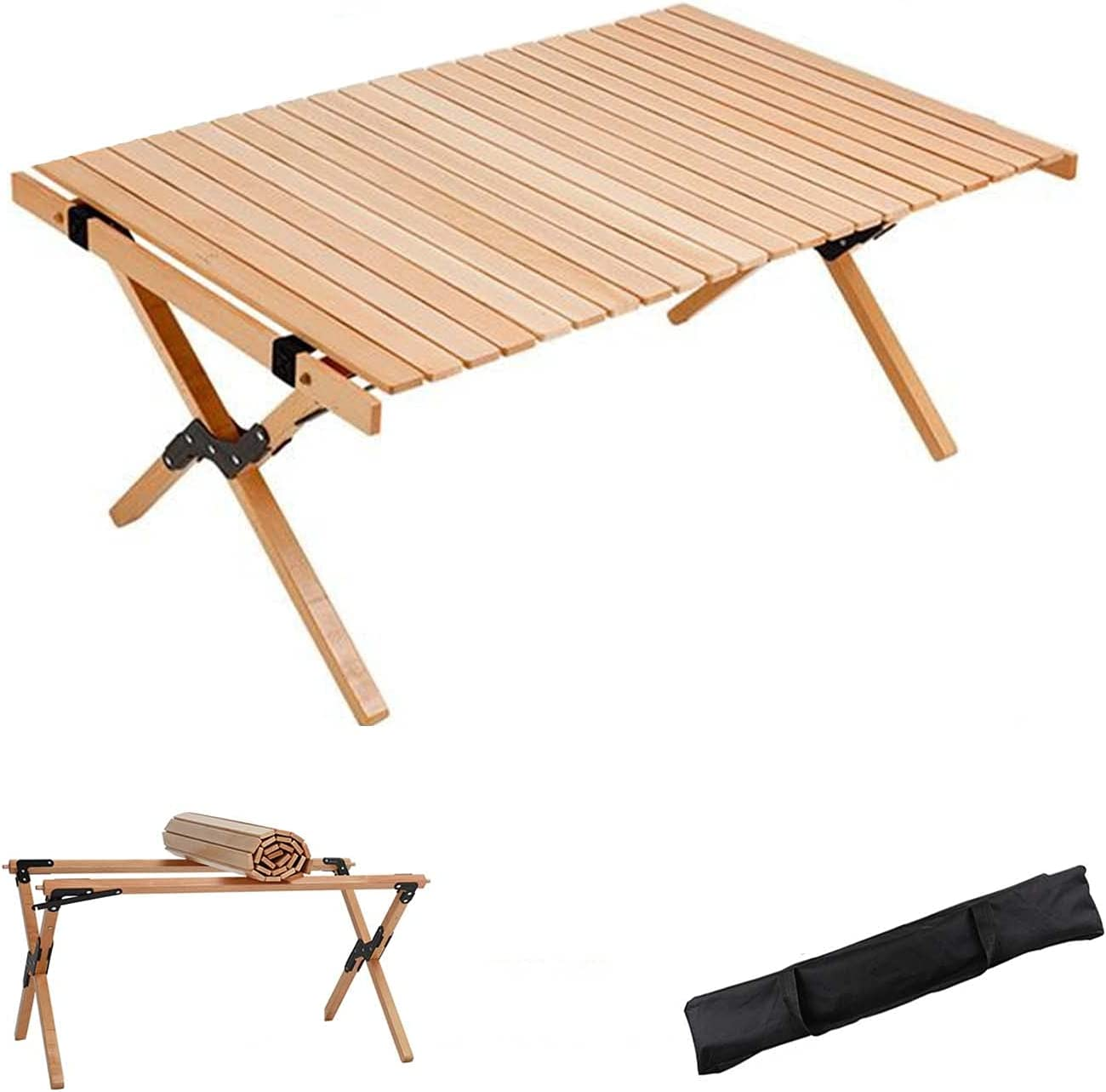 ZRXRY Folding Picnic Max 70% OFF Camping Wooden Ultra-Cheap Deals Portable Table Dining