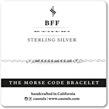 BFF Morse Code Bracelet or Necklace in Sterling Silver, 14k Gold Filled, Handmade Jewelry for Best Friend, Birthday Gift